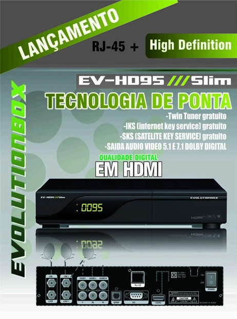 ATUALIZA O EVOLUTIONBOX EV HD95 SLIM COM A NOVA TP DO