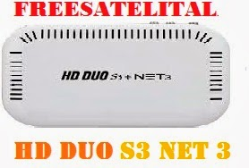 FREESATELITALHD NET S3 DUO HD